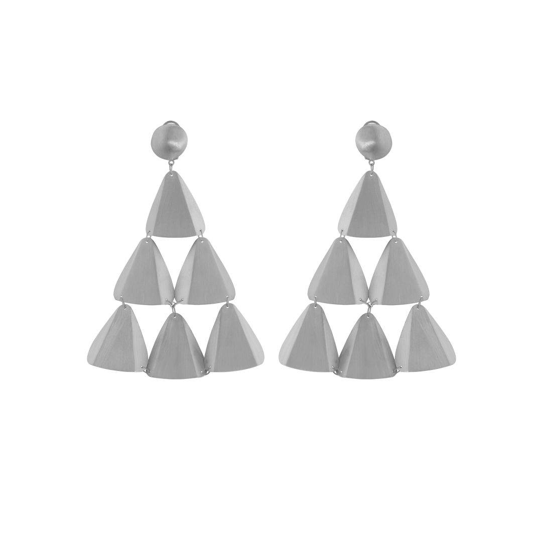 "Amália ""Tin"" Earrings, Brincos de Lata Amália"
