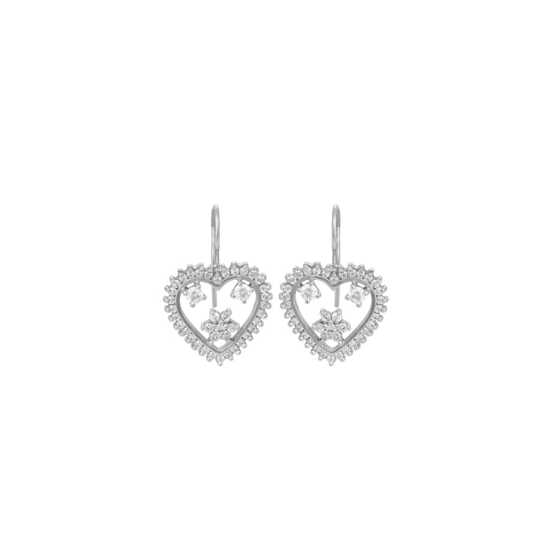 Brincos Coração de Lisboa em Prata 925, 925 Silver Heart of Lisbon Earrings