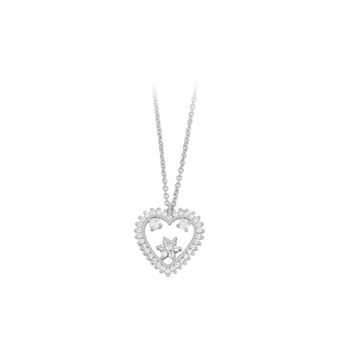 Colar Coração de Lisboa Prata 925, 925 Silver Lisbon Heart Necklace