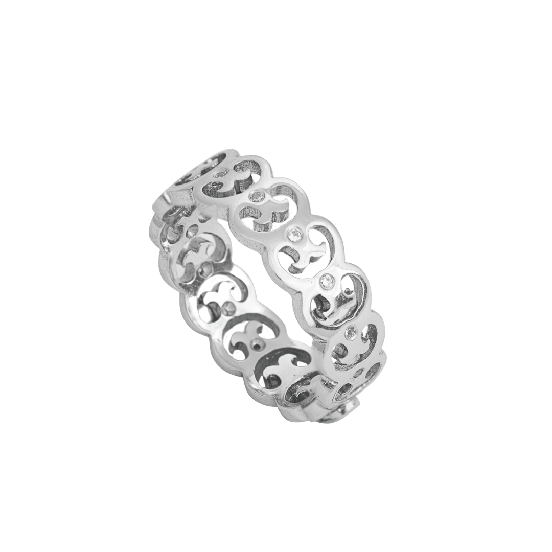 Anel Elos do Fado em Prata 925, Links of Fado 925 Silver Ring