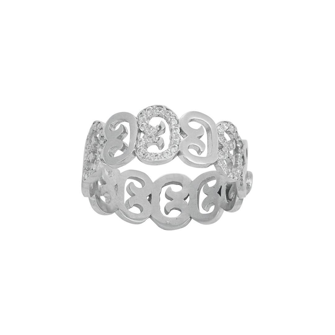 Anel Elos do Fado em Prata 925, Links of Fado 925 Silver Ring