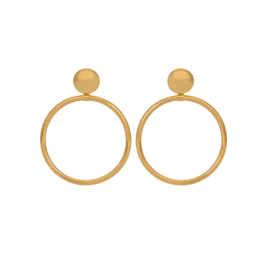 Argolas de Amália em Prata 925, Amália's Hoop 925 Silver Earrings