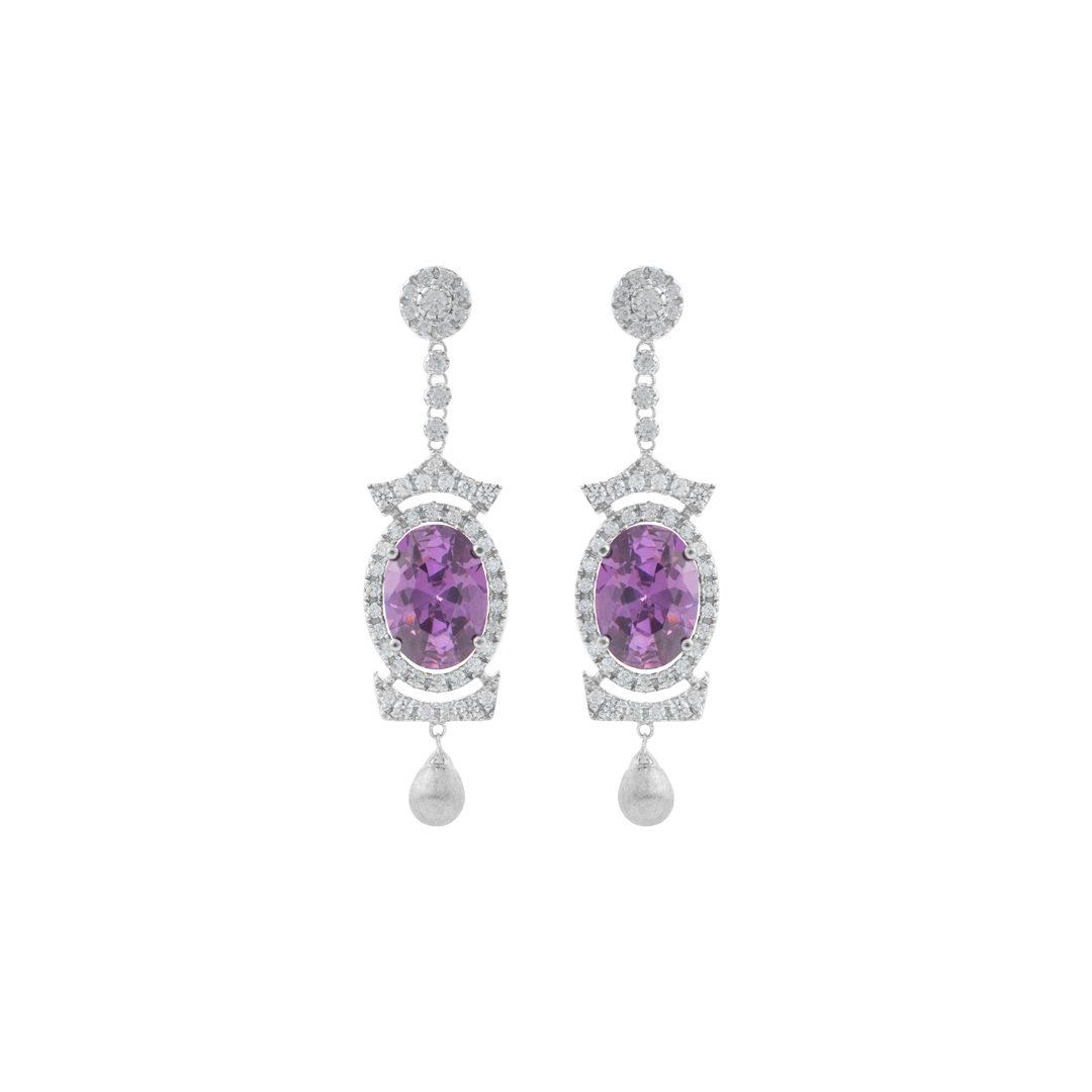925 Silver Goddess Earrings, Brincos de Deusa em Prata 925