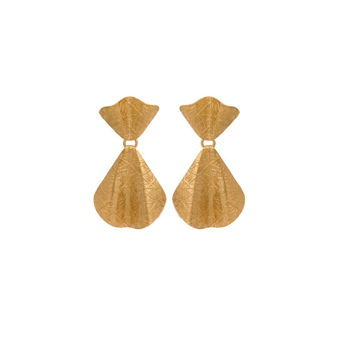 Brincos Leque de Paris em Prata 925, Parisian Fan 925 Silver Earrings