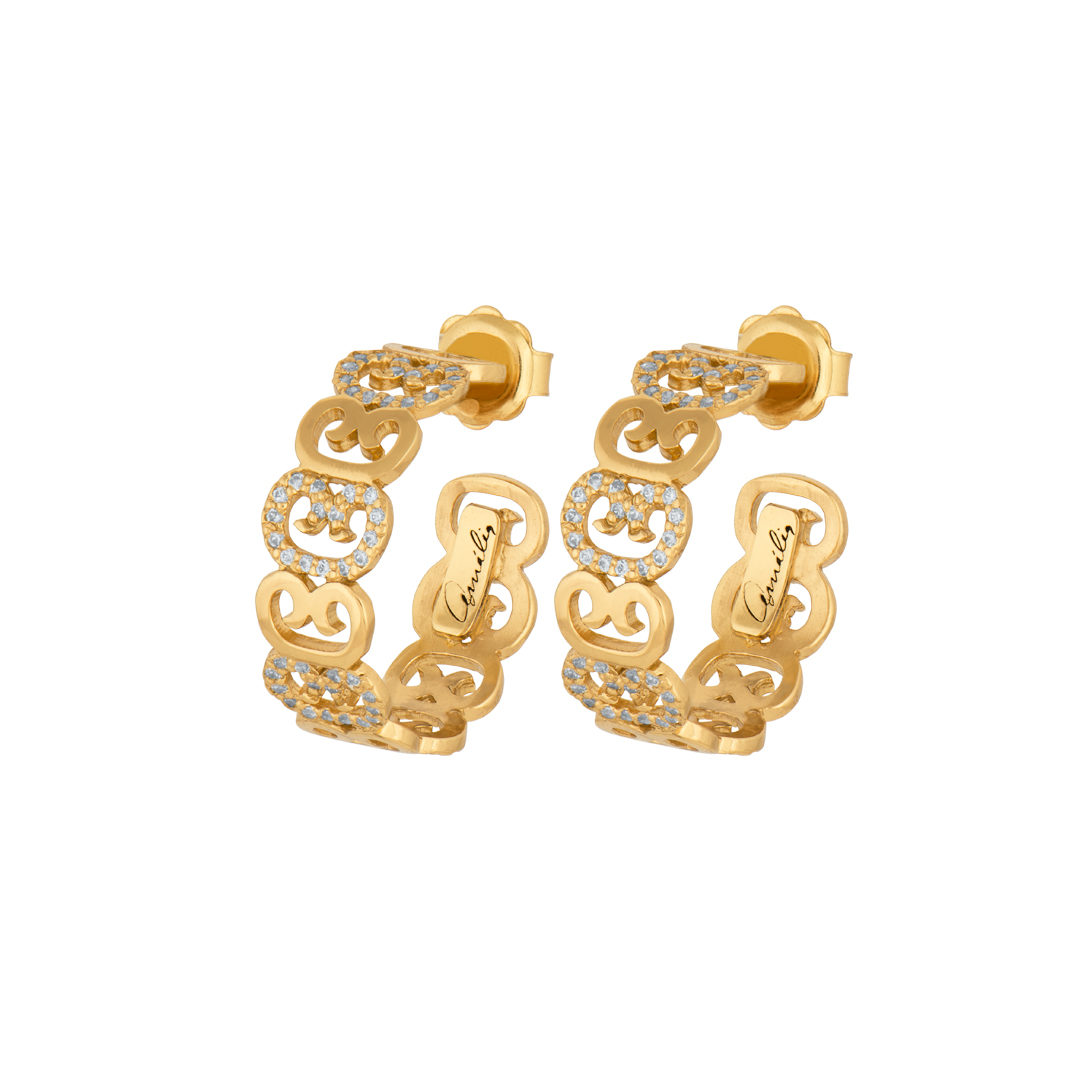 Links of Fado 925 Silver Earrings, Brincos Elos do Fado em Prata 925