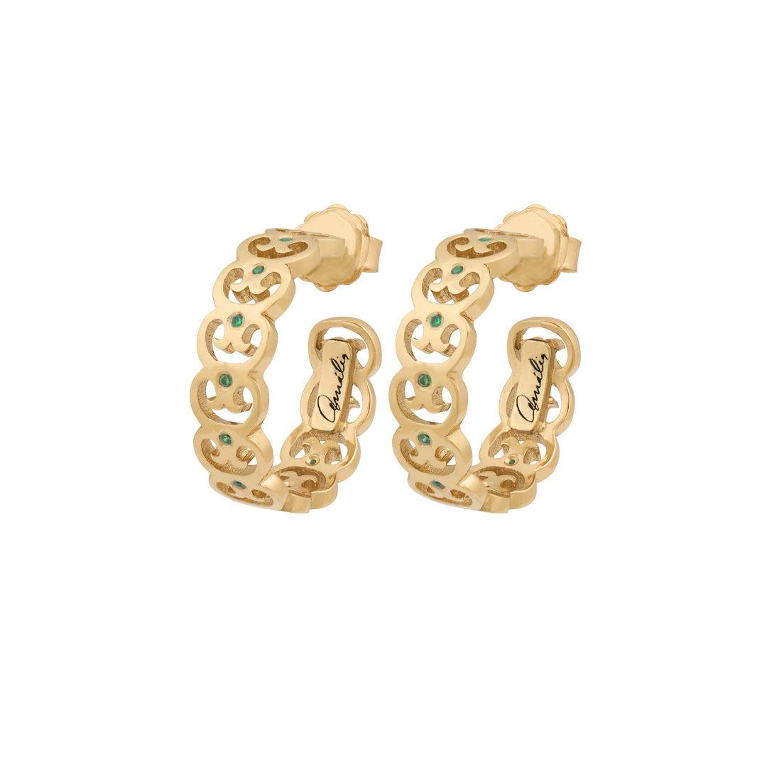 Links of Fado 925 Silver Earrings, Brincos Elos do Fado em Prata 925